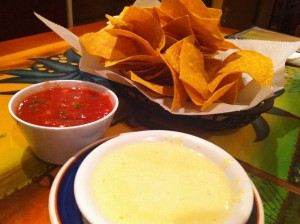 Chips and Blanco Queso Dip