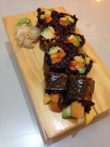 Black Rice Mango Roll