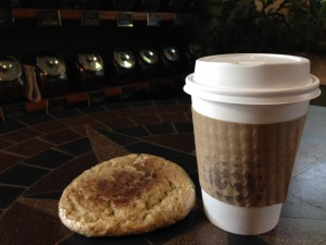 Orange Cat Coffee and Cookie