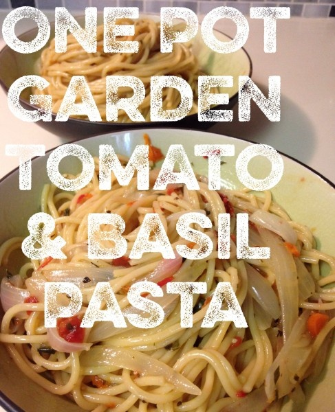 One Pot Garden Tomato and Basil Pasta