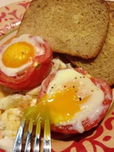 Garden Eggs with Toast