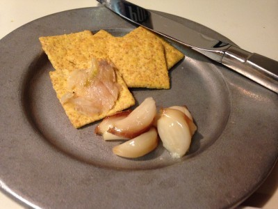 Roasted Garlic and Crackers
